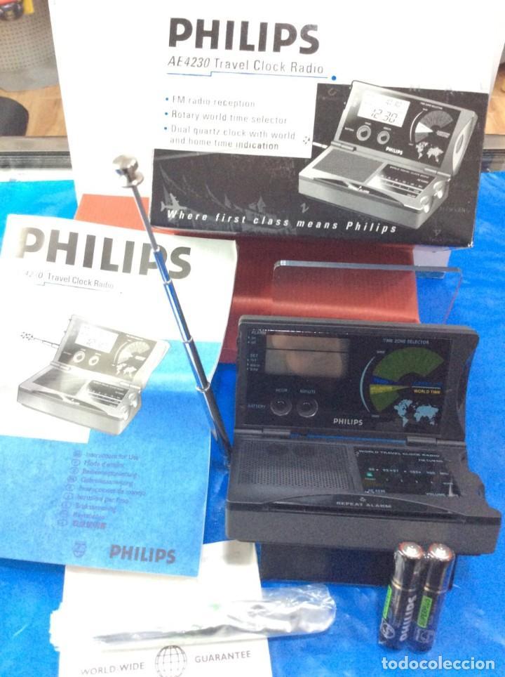 Radios antiguas: RADIO RELOJ PHILIPS AE 4230 AÑO 85 ¡¡ NUEVO !! VINTAGE !!!!!! - Foto 8 - 130521044