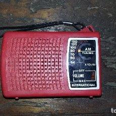 Radios antiguas: RADIO INTERNATIONAL DE PUBLICIDAD. FUNCIONA.. Lote 190766130