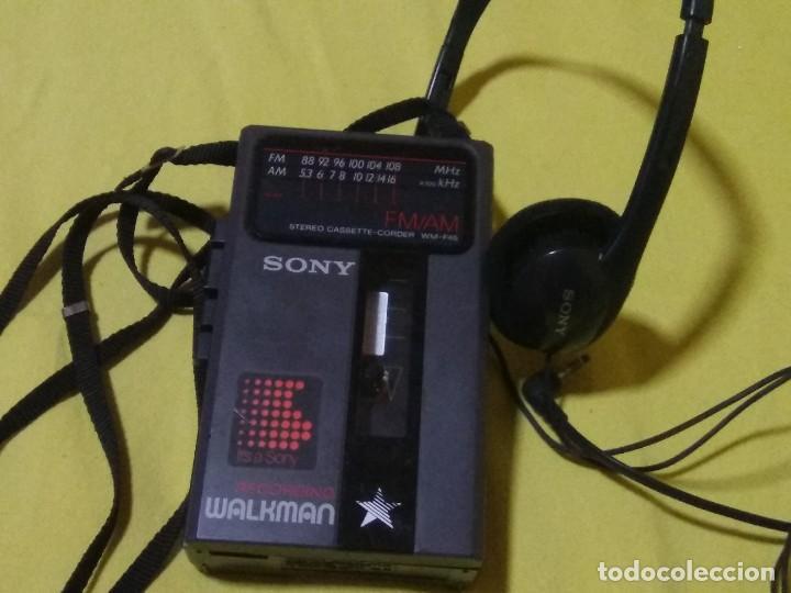VINTAGE-SONY-RECORDING-WALKMAN-WM-F46 (Radios, Gramófonos, Grabadoras y Otros - Transistores, Pick-ups y Otros)