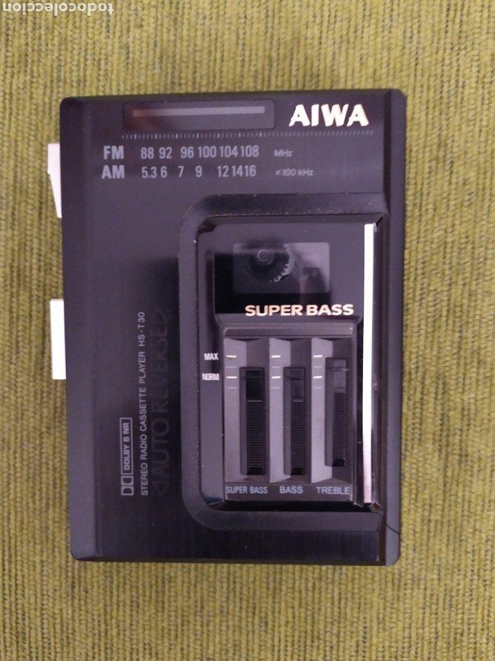 WALKMAN AIWA STEREO RADIO CASSETTE PLAYER HS T-30 AUTO-REVERSE. NO FUNCIONA (Radios, Gramófonos, Grabadoras y Otros - Transistores, Pick-ups y Otros)