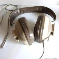 Radios antiguas: ANTIGUOS AURICULARES ESTEREOFÓNICOS AJUSTABLES CASCOS RETRO MARCA REIVOX. Lote 191033343