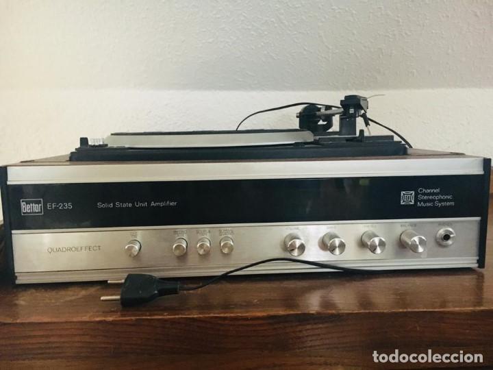 TOCADISCOS BETTOR EF-235 QUADROEFECT (Radios, Gramófonos, Grabadoras y Otros - Transistores, Pick-ups y Otros)
