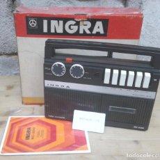 Radios antiguas: RADIO CASSETTE INGRA RC-200 ANTRACITA,NUEVA DE TRANSISTORES.. Lote 191282106