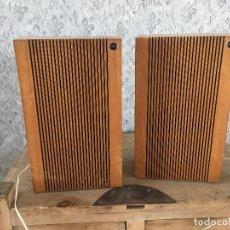 Radios antiguas: PAREJA DE ALTAVOCES COSMO FUNCIONANDO. MUY DECORATIVOS. Lote 191646988