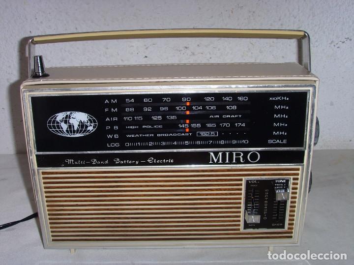 RADIO MULTIBANDAS MIRO (Radios, Gramófonos, Grabadoras y Otros - Transistores, Pick-ups y Otros)