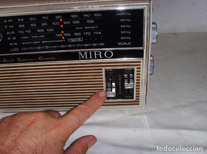 Radios antiguas: RADIO MULTIBANDAS MIRO - Foto 8 - 191740472