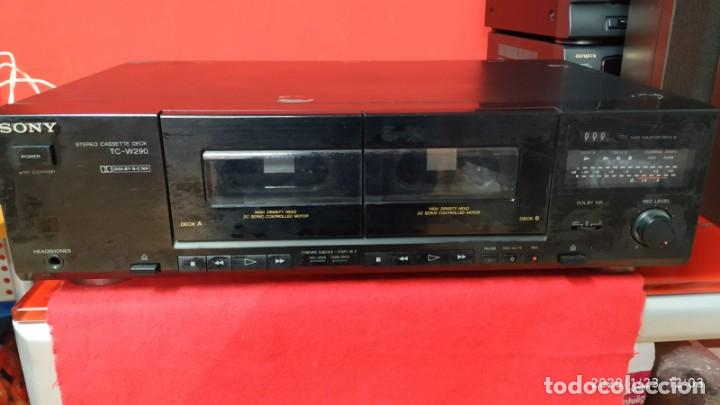 DOBLE PLETINA SONY TC-W290 (Radios, Gramófonos, Grabadoras y Otros - Transistores, Pick-ups y Otros)