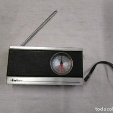 Radios antiguas: RADIO TRANSISTOR ' INTER ' EUROMODUL 124 AM/FM - FUNCIONANDO PILAS + INFO. Lote 191935617