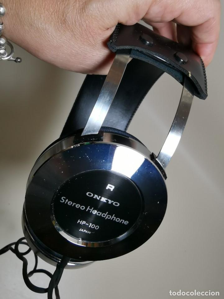 Radios antiguas: HEADPHONES AURICULARES ONKYO HP-100 -OSAKA JAPAN 1977 - Foto 18 - 191995051