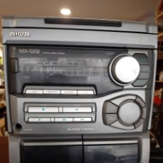 Radios antiguas: AIWA NSX 5202 CON COMPACT DISC DOBLE PLATINA RADIO SIN ALTAVOCES CON MANDO FUNCIONA TODO POCO USO. Lote 192032308