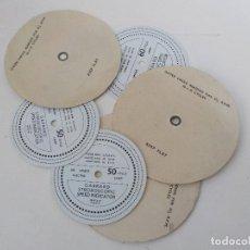 Radios antiguas: SEIS DISCOS ESTROBOSCOPICOS.GARRARD,CHANCERY. Lote 192235007