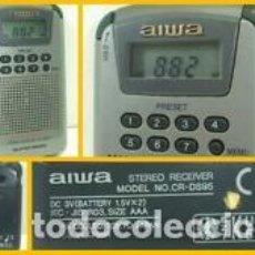 Radios antiguas: AIWA CR-DS95 MINI RADIO AM/FM ESTÉREO PORTÁTIL SUPER BASS TOTALMENTE FUNCIONAL PEPETO ELECTRONICA. Lote 192588386