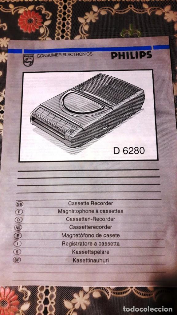 Radios antiguas: MAGNETOFONO GRABADOR-REPRODUCTOR DE CASSETTE PHILIPS - AÑOS 60-70 - Foto 8 - 192683155