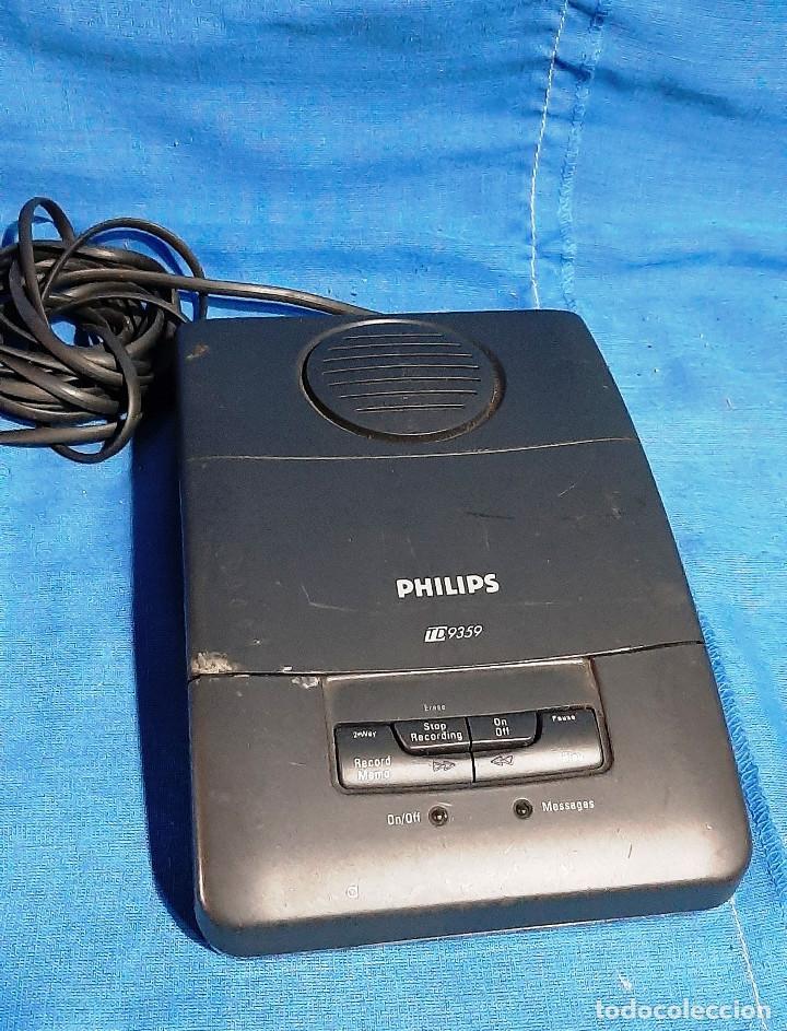 CONTESTADOR AUTOMATICO PHILIPS TD 9359... (Radios, Gramófonos, Grabadoras y Otros - Transistores, Pick-ups y Otros)