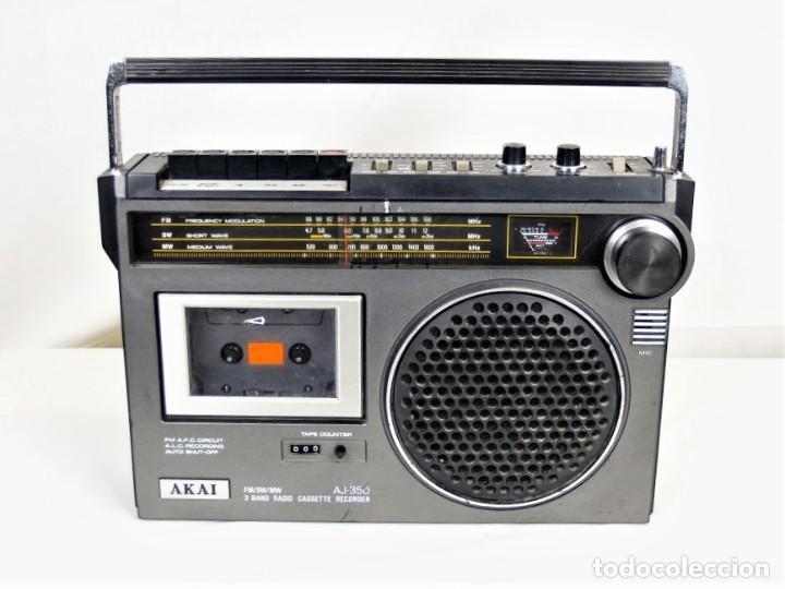 RADIO CASSETTE AKAY AJ-350 AÑO 1979 (Radios, Gramófonos, Grabadoras y Otros - Transistores, Pick-ups y Otros)
