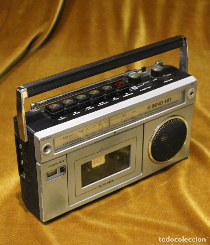 RADIO CASSETE INNO HIT,MODELO RR 620,MADE IN HONG-KONG. (Radios, Gramófonos, Grabadoras y Otros - Transistores, Pick-ups y Otros)