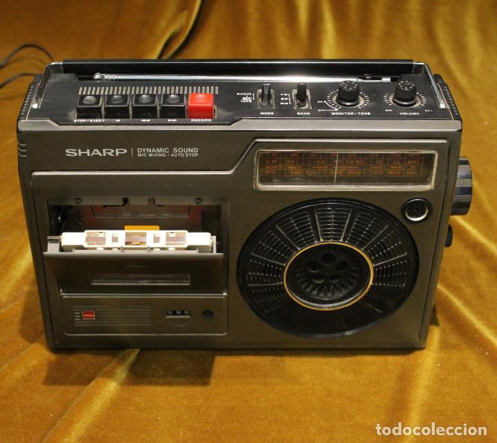 Radios antiguas: Radio Cassette Sharp,modelo GF-1602X,Made in Japan,Precisa de ajustes. - Foto 2 - 194331180