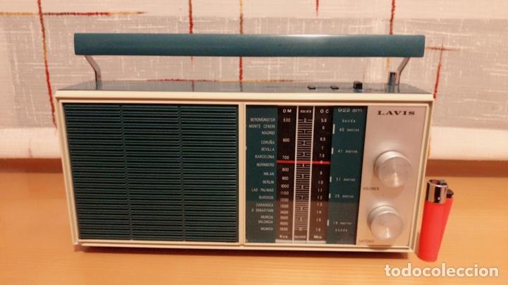 RADIO LAVIS 922, ,FUNCIONA BIEN, VER VÍDEO (Radios, Gramófonos, Grabadoras y Otros - Transistores, Pick-ups y Otros)