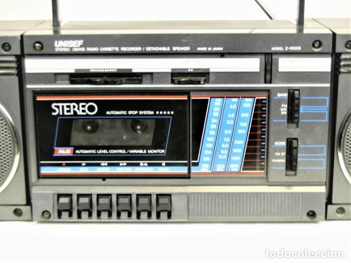 Radios antiguas: Mini cadena Unisef Z-1000S - Foto 2 - 194362250