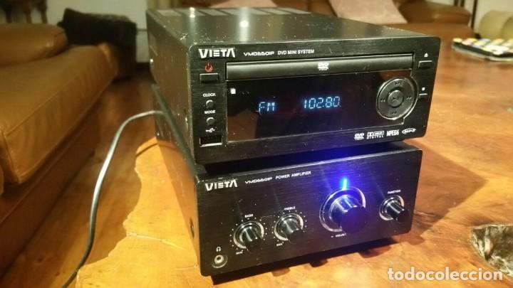 CONJUNTO VIETA VMO65OIP DE AMPLIFICADOR Y RADIO CD DVD MP3 MPG4 USB - FUNCIONANDO (Radios, Gramófonos, Grabadoras y Otros - Transistores, Pick-ups y Otros)