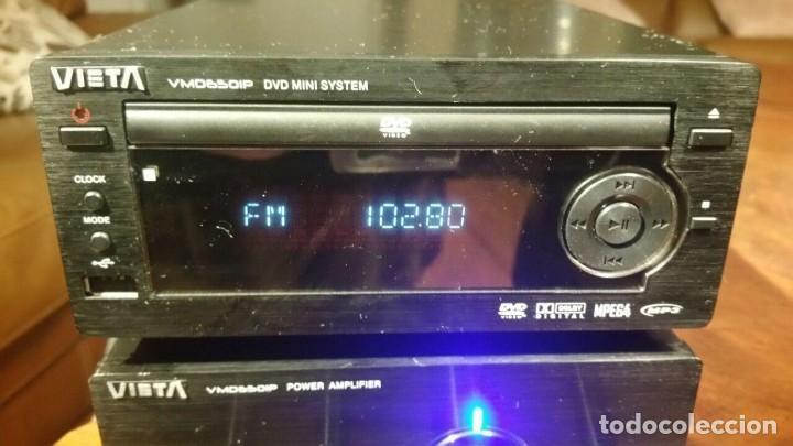 Radios antiguas: CONJUNTO VIETA VMO65OIP DE AMPLIFICADOR Y RADIO CD DVD MP3 MPG4 USB - FUNCIONANDO - Foto 2 - 194549500
