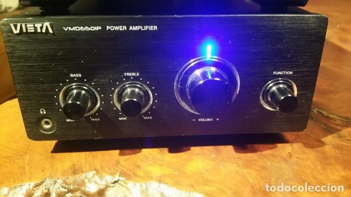 Radios antiguas: CONJUNTO VIETA VMO65OIP DE AMPLIFICADOR Y RADIO CD DVD MP3 MPG4 USB - FUNCIONANDO - Foto 3 - 194549500
