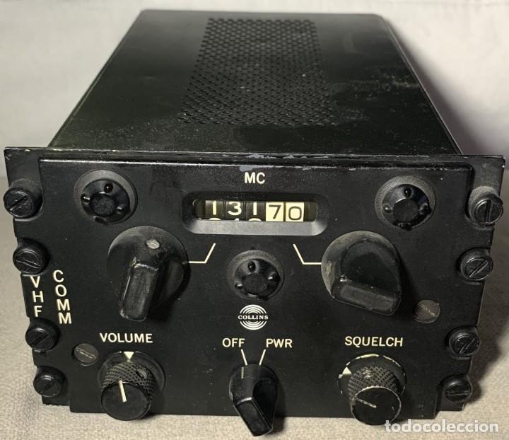 RADIO COLLINS 618F-1A PARA AVIÓN - TRANSMISOR - RECEPTOR DE VHF - AVIACIÓN MILITAR - USA (Radios, Gramófonos, Grabadoras y Otros - Transistores, Pick-ups y Otros)