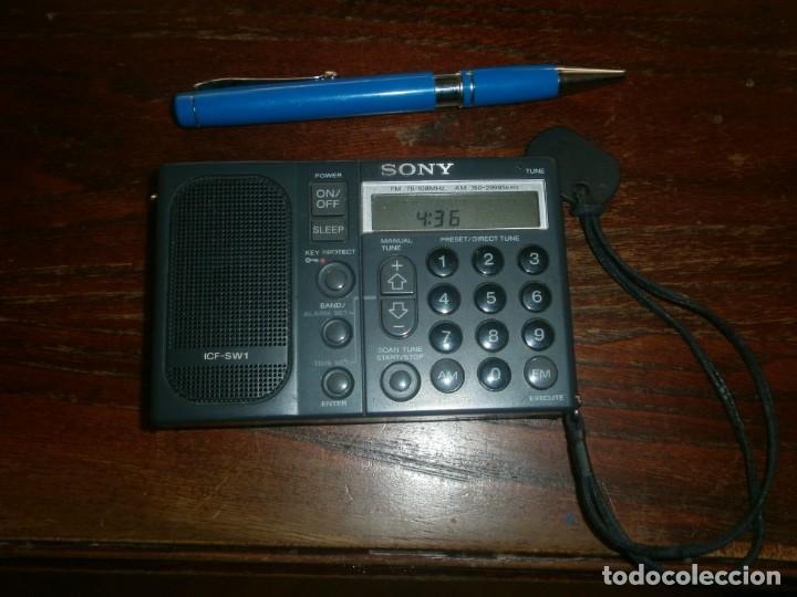 RADIO TRANSISTOR DIGITAL SONY ICF SW1 MEDIDA 11 X 7 CM. FUNCIONANDO (Radios, Gramófonos, Grabadoras y Otros - Transistores, Pick-ups y Otros)