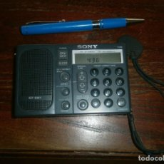 Radios antiguas: RADIO TRANSISTOR DIGITAL SONY ICF SW1 MEDIDA 11 X 7 CM. FUNCIONANDO . Lote 194783101