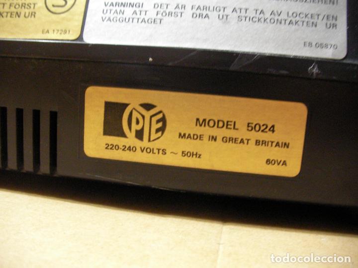 Radios antiguas: ANTIGUO RADIO PICKUP CASSETTE MUSIC CENTRE PYE MOD. 5024 FUNCIONANDO CORRECTAMENTE - Foto 16 - 194898495