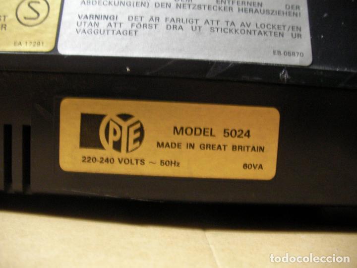 Radios antiguas: ANTIGUO RADIO PICKUP CASSETTE MUSIC CENTRE PYE MOD. 5024 FUNCIONANDO CORRECTAMENTE - Foto 17 - 194898495