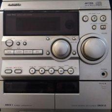 Radios antiguas: MINICADENAS ALTAVOCES GRANDES AIWA CABLE ENCENDIDO. Lote 195015416