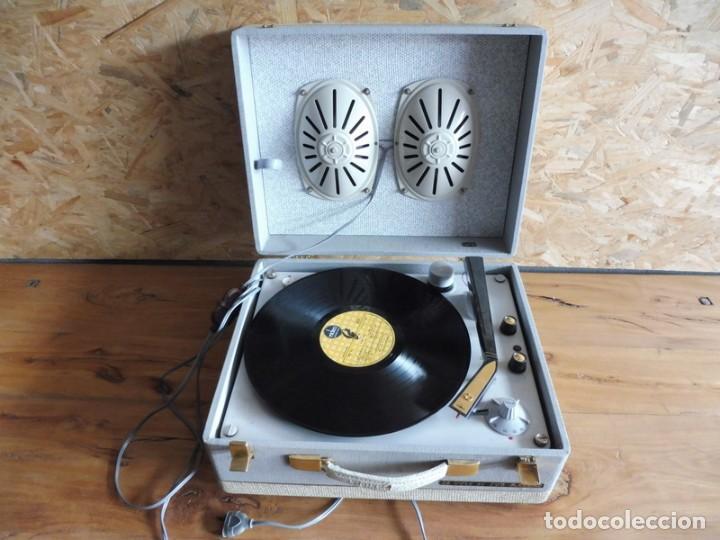 TOCADISCOS LA VOZ DE SU AMO - AÑOS 50 (Radios, Gramófonos, Grabadoras y Otros - Transistores, Pick-ups y Otros)