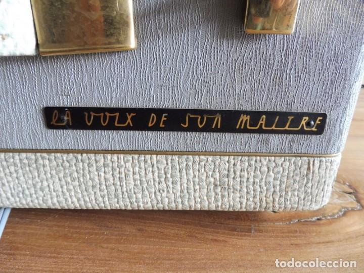 Radios antiguas: TOCADISCOS LA VOZ DE SU AMO - AÑOS 50 - Foto 3 - 195159408