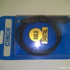 Radios antiguas: CABLE OPTICO DIGITAL TOSLINK 2.5M . Lote 195270636