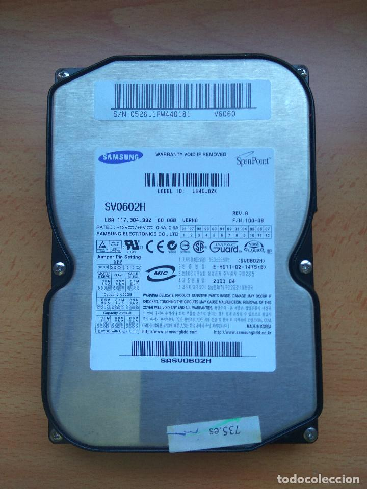 DISCO DURO SAMSUNG 60GB IDE SV0602H (Radios, Gramófonos, Grabadoras y Otros - Transistores, Pick-ups y Otros)