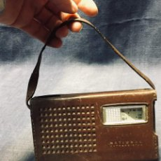 Radios antiguas: NATIONAL 6 TRANSISTOR CON FUNDA Y ANTENA MADE IN JAPAN MODEL T 51 MATSUSHITA 9X16X5CMS. Lote 195299340