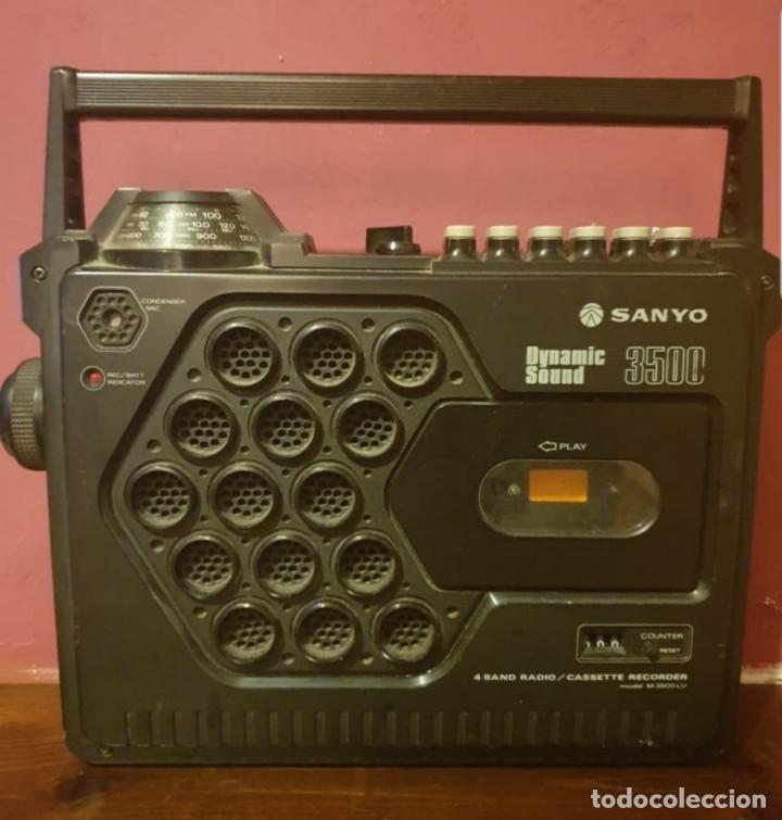 RADIO CASSET SANYO DYNAMIC SOUND 3500 (Radios, Gramófonos, Grabadoras y Otros - Transistores, Pick-ups y Otros)