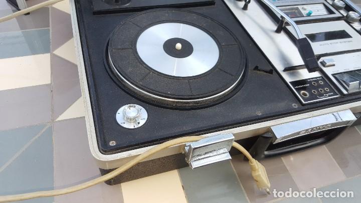 Radios antiguas: Sanyo Solid State Stereo Music Centre Model G-2615N Equipo Portátil Tocadiscos, Cassette, Radio FM - Foto 6 - 195339457