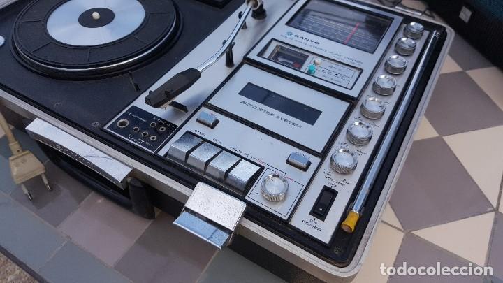 Radios antiguas: Sanyo Solid State Stereo Music Centre Model G-2615N Equipo Portátil Tocadiscos, Cassette, Radio FM - Foto 7 - 195339457