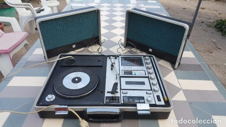 Radios antiguas: Sanyo Solid State Stereo Music Centre Model G-2615N Equipo Portátil Tocadiscos, Cassette, Radio FM - Foto 13 - 195339457