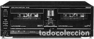 DOBLE PLETINA (CASSETE DECK) TECHNICS. RS X390 (Radios, Gramófonos, Grabadoras y Otros - Transistores, Pick-ups y Otros)