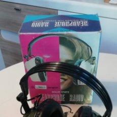 Radios antiguas: AURICULARES CON RADIO FM INCORPORADO SUPER VINTAGE.. Lote 195897015