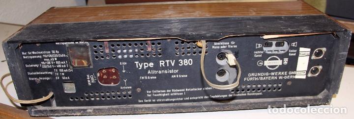 Antiguo Receptor De Radio Grundig Type Rtv 380