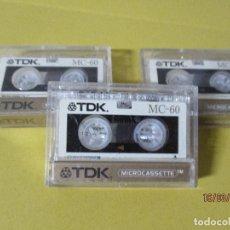 Radios antiguas: TRES MINI CINTAS TDK EN SU CAJA,60 MINUTOS. Lote 197589705