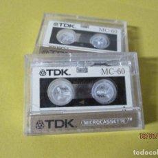 Radios antiguas: DOS MINI CINTAS TDK EN SU CAJA,60 MINUTOS. Lote 197589882