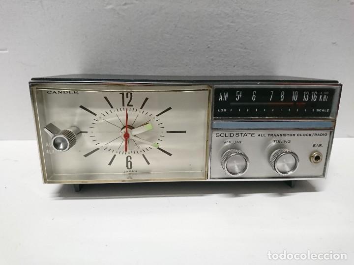 RADIO RELOJ CANDLE SOLID STATE (Radios, Gramófonos, Grabadoras y Otros - Transistores, Pick-ups y Otros)
