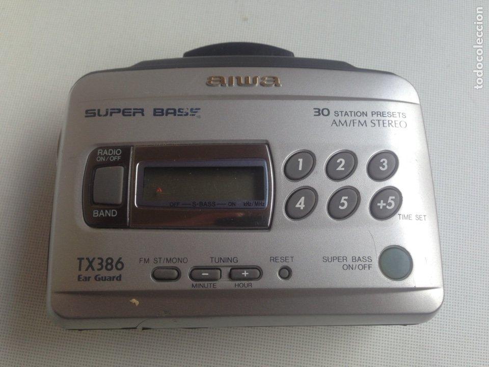 WALKMAN - AIWA TX386 CON AM-FM (Radios, Gramófonos, Grabadoras y Otros - Transistores, Pick-ups y Otros)