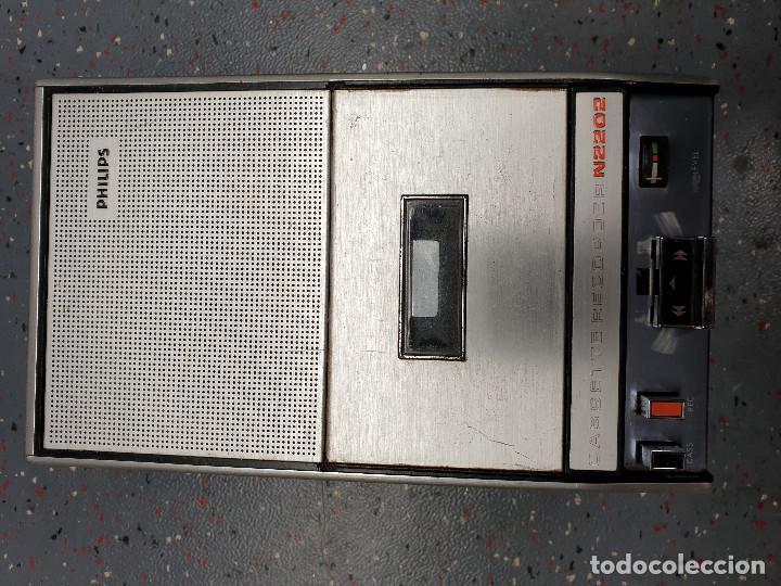 CASSETTE GRABADOR PHILIPS N2202 (Radios, Gramófonos, Grabadoras y Otros - Transistores, Pick-ups y Otros)