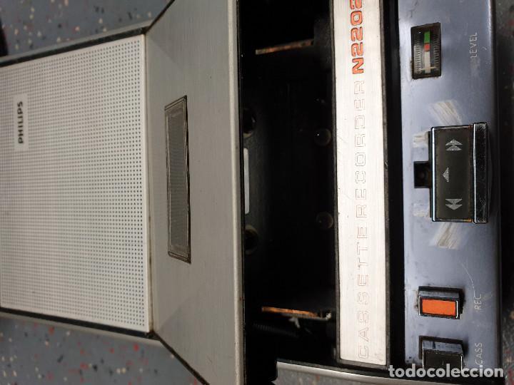 Radios antiguas: CASSETTE GRABADOR PHILIPS N2202 - Foto 2 - 198224118